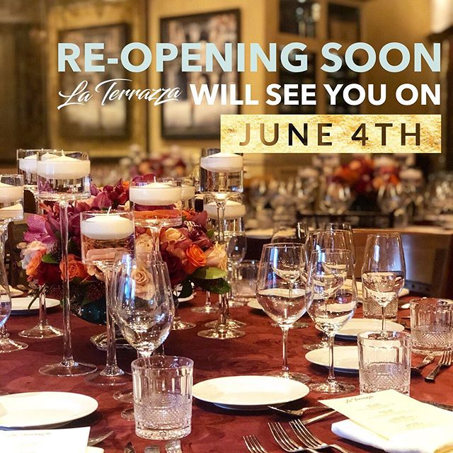 La Terrazza Re-Opening Soon June 4th